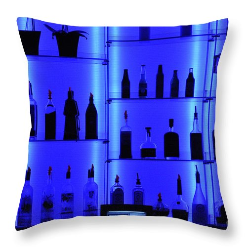 Clay Throw Pillow featuring the photograph Blue Bar by Clayton Bruster