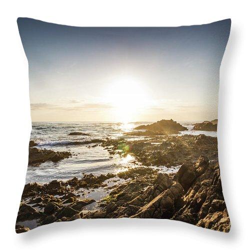 Beach Throw Pillow featuring the photograph Blue Beach Beauty by Jorgo Photography - Wall Art Gallery