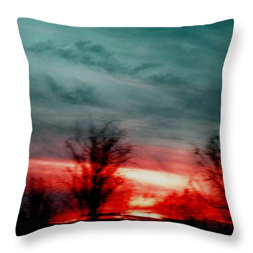 Landscape Throw Pillow featuring the photograph The Memory Remains by M Pace