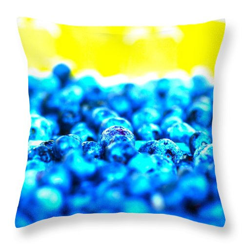 Blue Throw Pillow featuring the photograph Blue Blur by Nadine Rippelmeyer