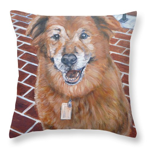 Chow Throw Pillow featuring the painting Blue by Bryan Bustard
