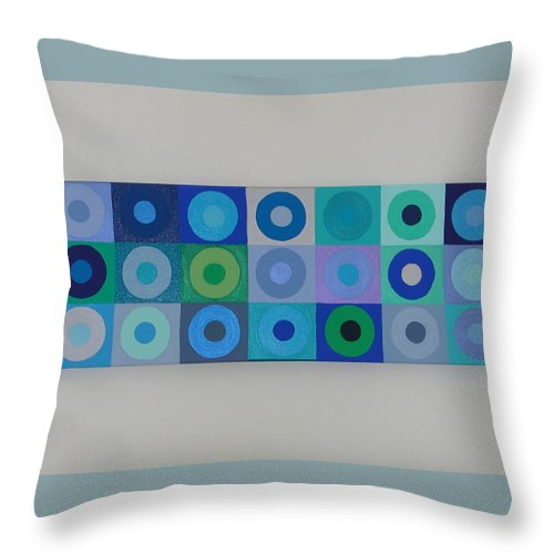 Blue Throw Pillow featuring the painting Blue By You by Gay Dallek