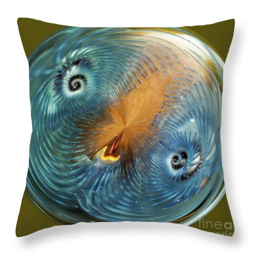 Fiji Throw Pillow featuring the digital art Blue Christmas by George Cathcart