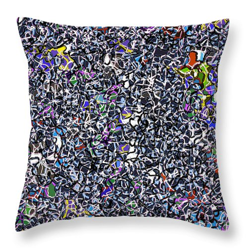 Complex Throw Pillow featuring the digital art Blue Complex by Andy Mercer