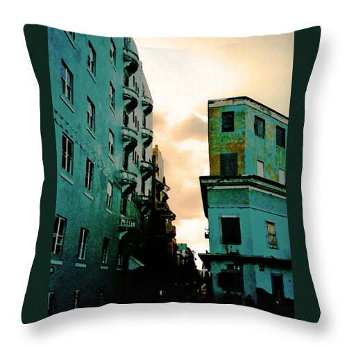 Puerto Rico Throw Pillow featuring the photograph Blue Corner by Jeff Barrett