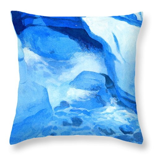 Seascape Throw Pillow featuring the painting Blue Cove by Ken Meyer