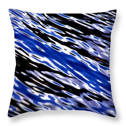 Water Throw Pillow featuring the photograph Blue Current by Donna Blackhall