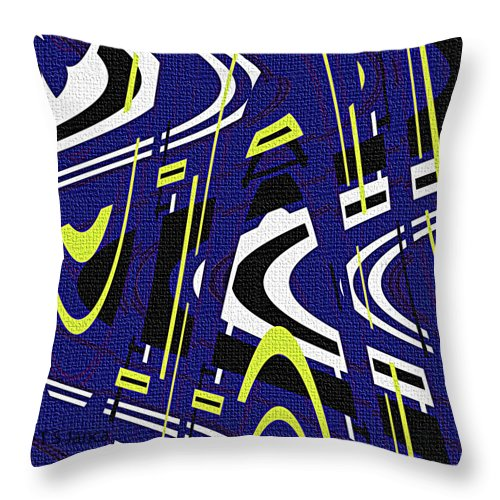 Blue Drawing Abstract Throw Pillow featuring the photograph Blue Drawing Abstract by Tom Janca