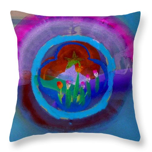 Love Throw Pillow featuring the painting Blue Embrace by Charles Stuart