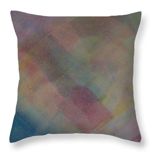 Abstract Throw Pillow featuring the painting Blue by Emily Young