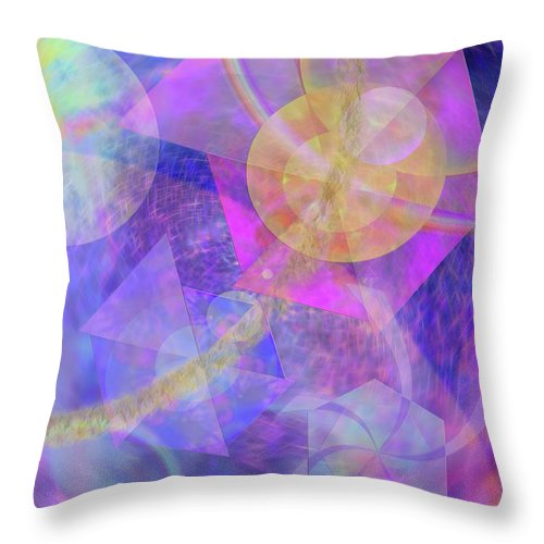 Blue Expectations Throw Pillow featuring the digital art Blue Expectations by John Beck