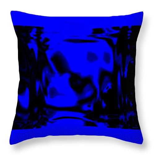 Aupre.com Hypermorphic Arthouse Unique Original Digital Art Made By The Hari Rama Throw Pillow featuring the painting Blue Fashion by The Hari Rama