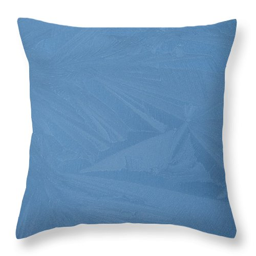 Blue Throw Pillow featuring the photograph Blue Frost 1 by Paolo Marini