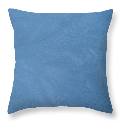 Blue Throw Pillow featuring the photograph Blue Frost 2 by Paolo Marini