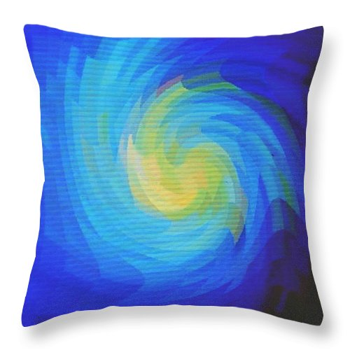 Blue Throw Pillow featuring the digital art Blue Galaxy by Ian MacDonald
