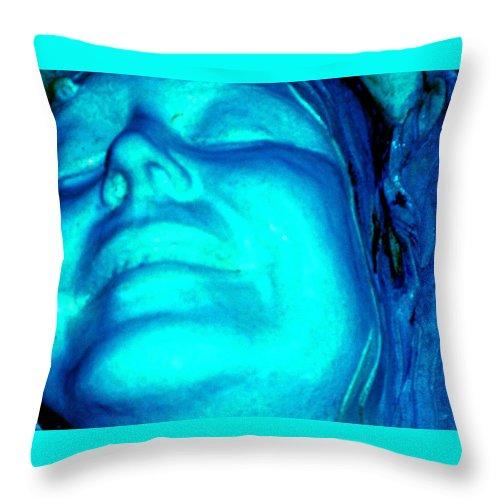 Blue Throw Pillow featuring the photograph Blue Goddess by Wayne Potrafka