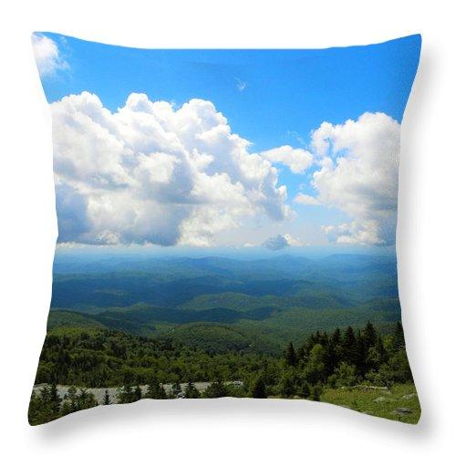 Blue Sky Throw Pillow featuring the photograph Blue Haze by Ric Schafer
