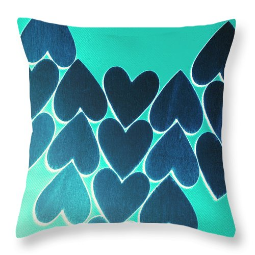 Blue Throw Pillow featuring the photograph Blue Heart Collective by Jorgo Photography - Wall Art Gallery