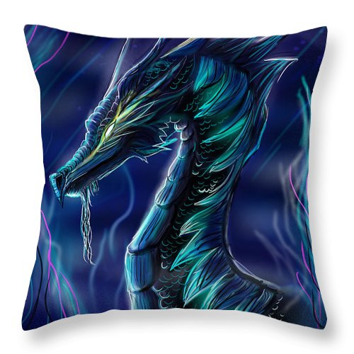 Blue Throw Pillow featuring the digital art Blue by Heather Munzner