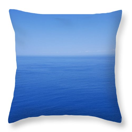 Tranquility Throw Pillow featuring the photograph Blue Horizon by Gaspar Avila