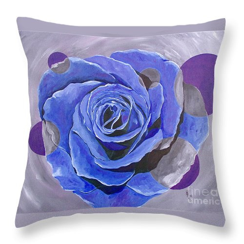 Acrylic Throw Pillow featuring the painting Blue Ice by Herschel Fall