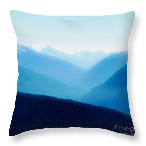 Infinity Throw Pillow featuring the photograph Blue Infinity by Idaho Scenic Images Linda Lantzy