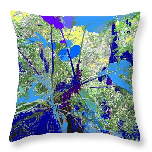 Throw Pillow featuring the photograph Blue Jungle by Ian MacDonald