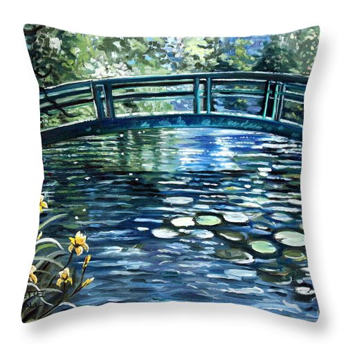 Impressionistic Throw Pillow featuring the painting Blue Lagoon by Elizabeth Robinette Tyndall