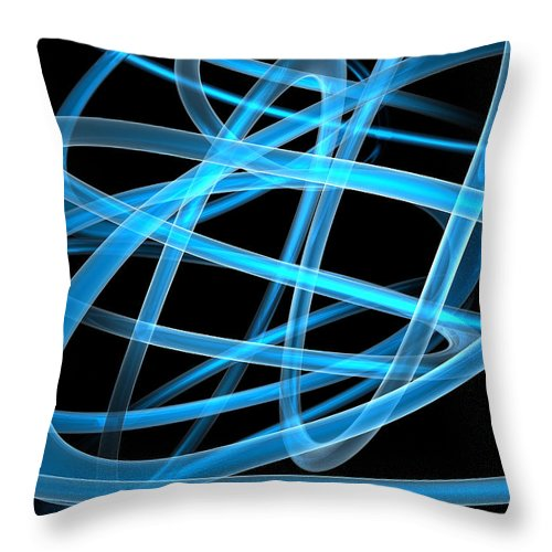 Scott Piers Throw Pillow featuring the painting Blue Light by Scott Piers