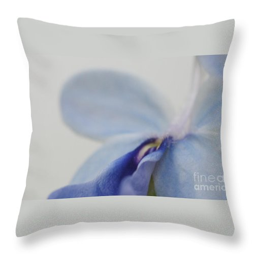 Flower Throw Pillow featuring the photograph Blue by Linda Shafer