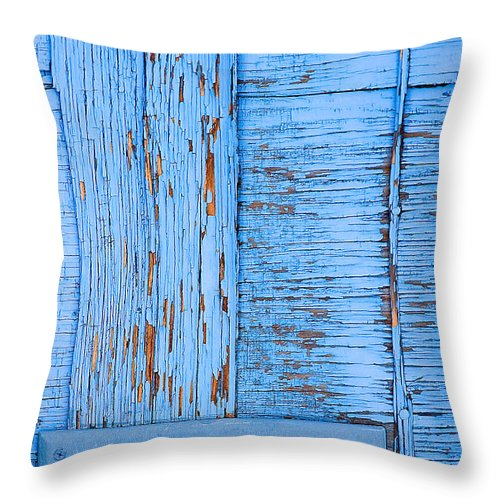 Colorado Throw Pillow featuring the photograph Blue Mail by Mark Braun