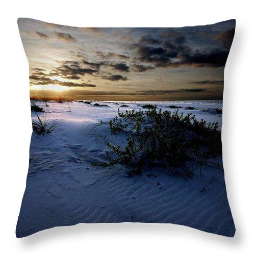 Alabama Photographer Throw Pillow featuring the digital art Blue Morning by Michael Thomas