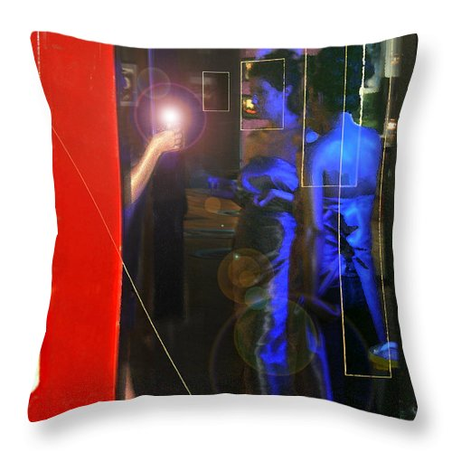 Female Figures Throw Pillow featuring the photograph Blue Muses by Steve Karol