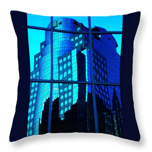North America Throw Pillow featuring the photograph Blue Reflections ... by Juergen Weiss