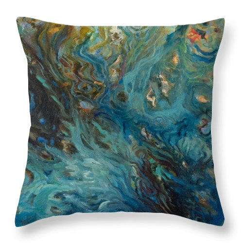 Marine Throw Pillow featuring the painting Blue by Rick Nederlof