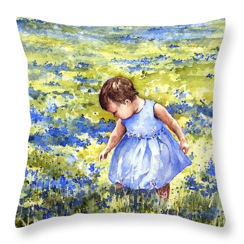 Blue Throw Pillow featuring the painting Blue by Sam Sidders