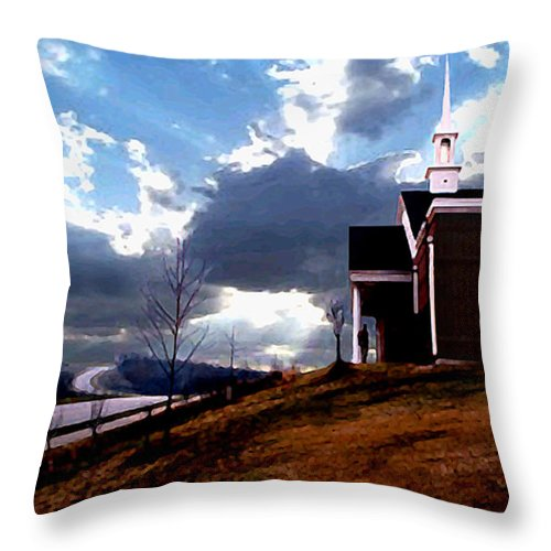 Landscape Throw Pillow featuring the photograph Blue Springs Landscape by Steve Karol