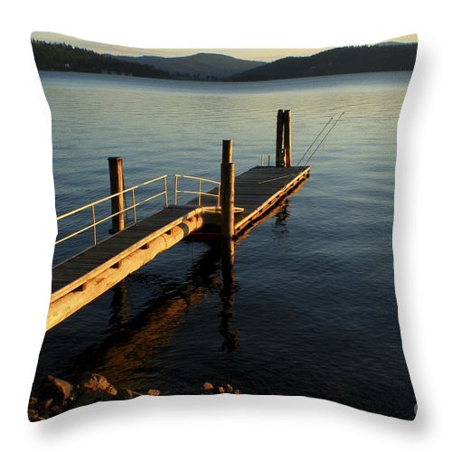 Tranquility Throw Pillow featuring the photograph Blue Tranquility by Idaho Scenic Images Linda Lantzy