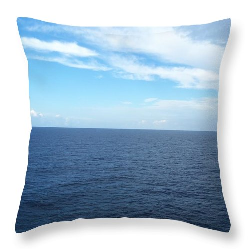 Digital Throw Pillow featuring the photograph Blue by Vell Thomas