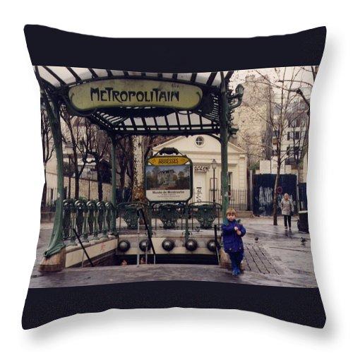 Paris Throw Pillow featuring the photograph Blue Wellingtons by Maria Joy