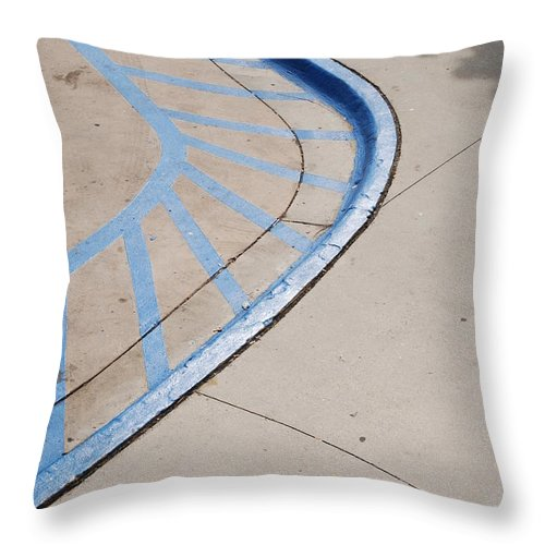 Blue Throw Pillow featuring the photograph Blue Zone by Rob Hans