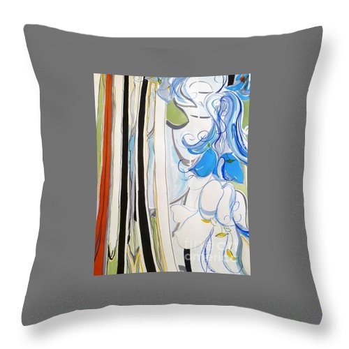 Bluebells Throw Pillow featuring the painting Bluebell by Sharon Cox