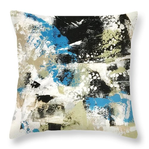 Throw Pillow featuring the painting Bluebells #1 by Suzzanna Frank