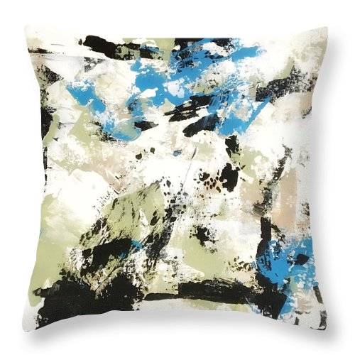 Throw Pillow featuring the painting Bluebells #2 by Suzzanna Frank