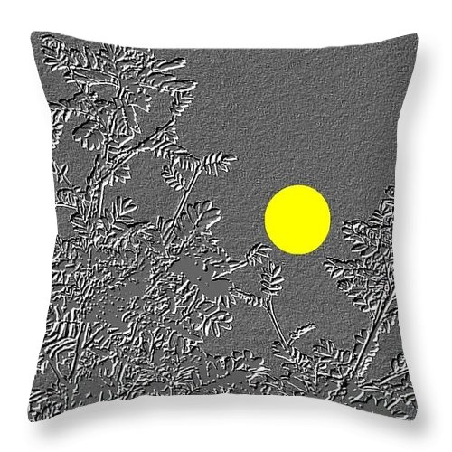 Abstract Throw Pillow featuring the digital art Bluebirds by Will Borden