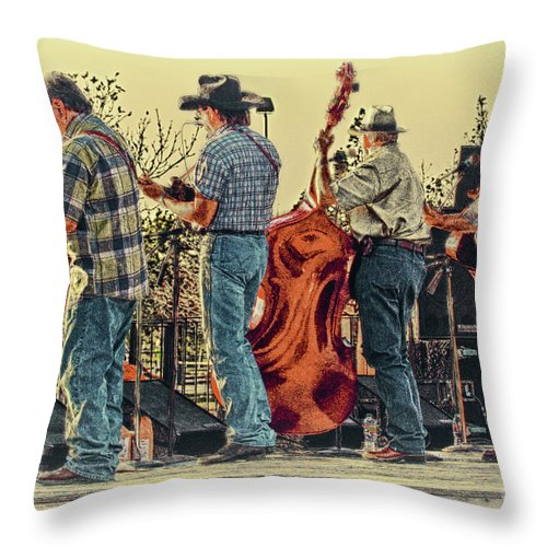 Music Throw Pillow featuring the photograph Bluegrass Evening by Robert Frederick
