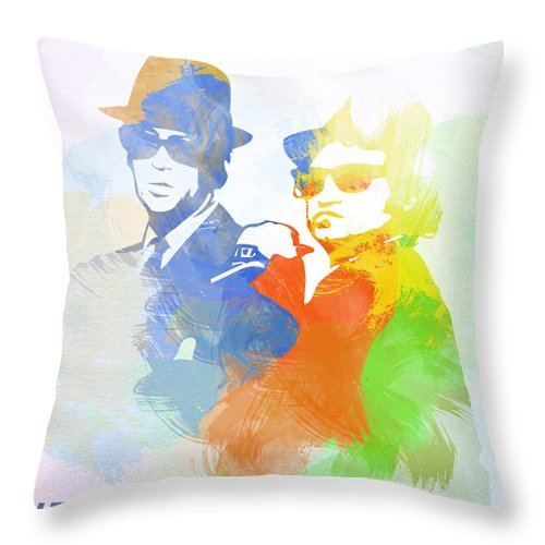 Blues Brothers Posters. Music Posters Throw Pillow featuring the digital art Blues Brothers by Naxart Studio