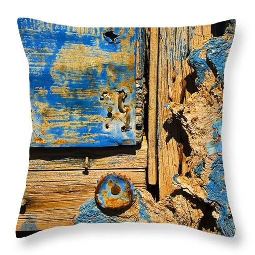 Abstract Throw Pillow featuring the photograph Blues Dues by Skip Hunt