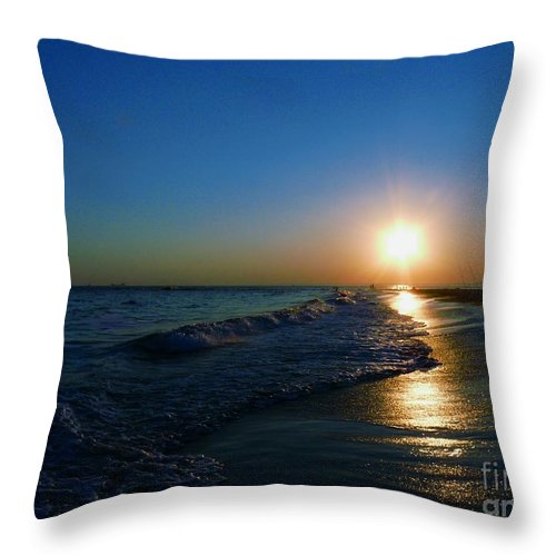 Landscape Throw Pillow featuring the photograph Blues In The Evening by Kendall Eutemey