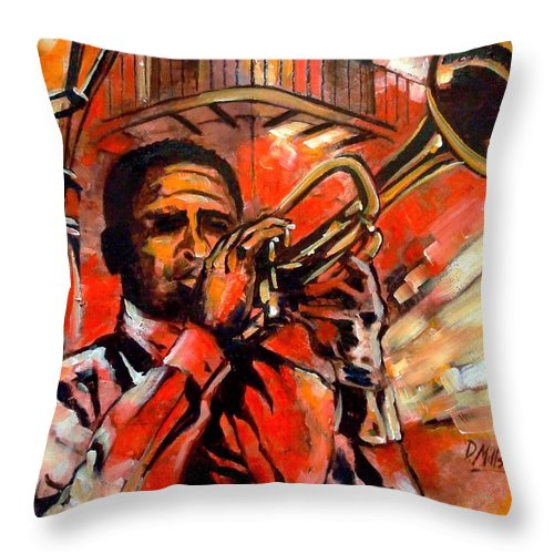 New Orleans Throw Pillow featuring the painting Blues On Bourbon Street by Diane Millsap